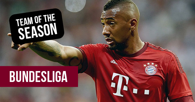 image of Jerome Boateng of Bayern munich part of the FOOTY.COM Bundesliga team of the season